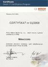 Certyfikat BOSCH IP