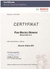 Certyfikat BOSCH Video IP1