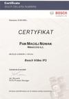Certyfikat BOSCH Video IP2